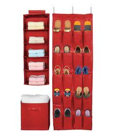 Another great find on #zulily! Red Closet Organizer - Set of Three #zulilyfinds