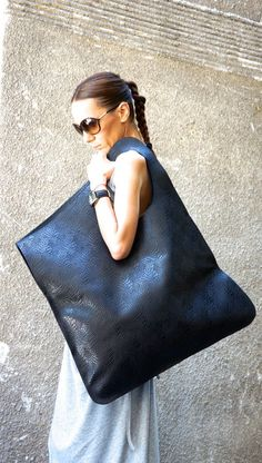 NEW Genuine Limited Edition Leather Black Bag / High Quality  Tote Asymmetrical  Large Bag by AAKASHA A14259 - clutch bags, brown leather bag, bag backpack online *sponsored https://www.pinterest.com/bags_bag/ https://www.pinterest.com/explore/bag/ https://www.pinterest.com/bags_bag/messenger-bags/ http://shop.diesel.com/mens/bags/
