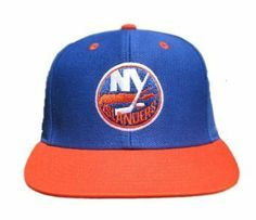 NHL Retro New York Islanders Snapback Hockey Hat Cap - Blue / Orange by NHL. $12.97. Show your team Pride!. One Size Fits All. Adjustable Plastic Snap Closure. Officially Licensed Product. NHL Retro New York Islanders Snapback Hockey Hat Cap - Blue / Orange