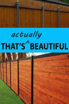 Best of 21 Holzzaun mit Metallpfosten # Zaun # Metall # Pfosten # Holz - Zaun Ideen Cedar Wood Fence, Wood Fence Post, Wood Privacy Fence, Privacy Fence Designs, Timber Fencing, Diy Fence, Wooden Fence, Backyard Fences, Fence Ideas