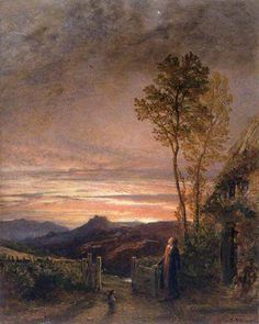 The Rising of the Skylark by Samuel Palmer 1839 (A painting inspired by the poetry of William Blake, the artist's favorite poet.)
