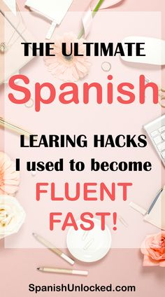 The Ultimate Spanish Learning Hacks I Used to Become Fluent Fast! These 15 fun and easy hacks that work! Learn Conversational Spanish Fast and easy! These tips worked for me, so they will work for you, too! Spanish Phrases, Spanish Grammar, Spanish Vocabulary, Spanish Language Learning, Spanish Teacher, Learn A New Language, Spanish Classroom, Spanish Words, Teaching Spanish