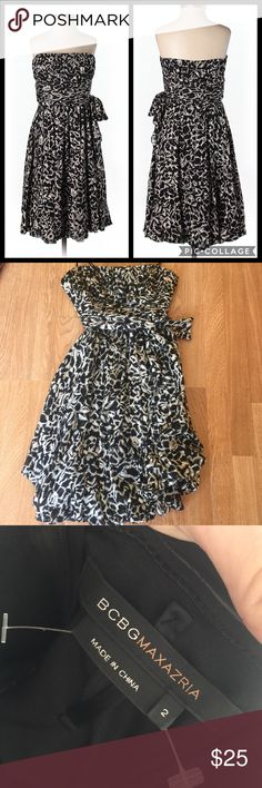 Strapless bcbg dress Worn but in good shape with no issues super cute! BCBGMaxAzria Dresses Strapless