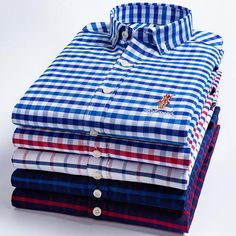 Cotton Men's Oxford Shirts High Quality Long Sleeved Button-down Neck Simplicity Soft Clothes Fashion Men Casual Shirt – Men's style, accessories, mens fashion trends 2020 Casual Shirts For Men, Men Casual, Casual Wear, Casual Styles, Fitness Motivation, Branded Shirts, Oxford Shirts, Mens Clothing Styles, Shirt Style