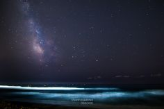 t was hard to make this shot, many light pollution but a small achievement I've still got it, even if with a little noise #milkyway #nightphotography #sea #beach #sky #stars