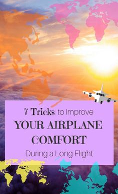 7 Tricks to Improve Your Airplane Comfort During a Long Flight Packing Tips For Travel, Travel Advice, Budget Travel, Travel Hacks, Travelling Tips, Europe Packing, Packing Lists, Travel Guides, Traveling Europe