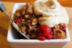 Apple, Raspberry, Maca and Vanilla- Gluten-free Crumble I used to love crumble and cream; now I find the sugary, floury version a bit stodgy and heavy. This GF version is lighter and packed with superfoods. I think the mixture of oats, rice flour and buckwheat flour make a really delicious and crunchy topping. If …