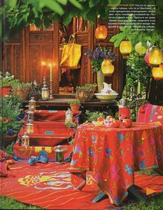 Gypsy Boho party -- maybe not soooo much red, but it looks SO pretty and festive otherwise!