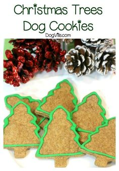 Ready for another great holiday dog treats recipe that you can whip up for your special canine companion? These Christmas Tree treats are so cute!