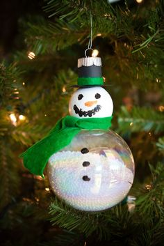Christmas snowman ornament craft