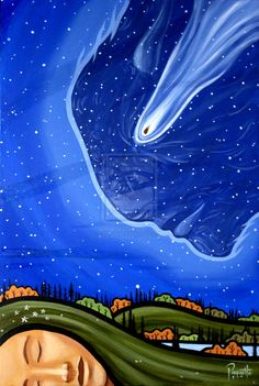 """Manitou Stone by AaronPaquette.deviantart.com on @deviantART - Art by Métis (First Nations) artist Aaron Paquette: """"There is a meteor at the Royal Alberta Museum called Manitou Stone. It fell a long time ago and marked the peace between two warring Nations, the Blackfoot and the Cree. It sat for hundreds of years between their territories, and the Elders said if it was ever removed, war would begin again. There would be famine and disease and the buffalo would disappear from the land...."""""""