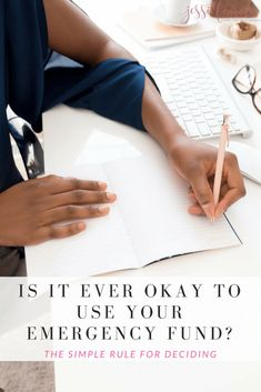 """When do you use your emergency fund? Yes, you should use it for emergencies only but real life sometimes gets in the way. So, is there an """"okay"""" time to use your emergency fund when it's not really life or death? Ways To Save Money, Money Tips, Money Saving Tips, How To Make Money, Savings Planner, Budget Planner, Budgeting Tips, Budgeting Finances, Frugal Living Tips"""
