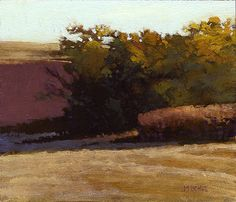 Iowa Fields, 6 x 7 inches, oil on panel