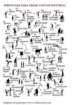 This makes me wish I taught creative writing.Fun creative writing- characters you need for an epic tale by tom gauld. students choose one, three, ten -- then write! Book Writing Tips, Writing Resources, Writing Help, Short Story Writing, Writing A Novel, Short Story Prompts, Writing Area, Writing Assignments, Fiction Writing