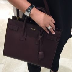 6f0a2152e79b Saint Laurent Sac De Jour Small grain leather Burgundy! Perfect bag for  Fall! My