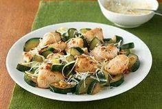 Garlic chicken zucchini