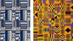 Examples of kente cloth . click through to read about Georgetown University having kente cloth patterns on their basketball court. Georgetown Basketball, Ashanti People, Cloth Patterns, Georgetown University, Kente Cloth, African Textiles, Investigations, Basketball Court, Sneaker