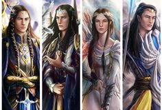 Children of Fingolfin : Fingon, Turgon, Aredhel and Argony - http://niyochara.tumblr.com
