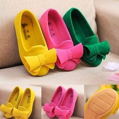 Kids Girls Lovely Bowknot Slip On Soft Casual Party Loafers Ballet Flats  Shoes ae003f9d313a