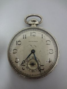 Old Watches, Vintage Watches For Men, Pocket Watches, Wrist Watches, Old Clocks, Antique Clocks, Vintage Clocks, Gold Pocket Watch, Pocket Watch Antique