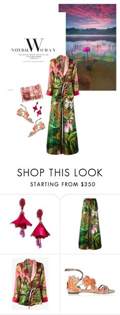"""""""Spring/ Summer 2017: Trendy and chic"""" by ecletica-and-chic ❤ liked on Polyvore featuring Oscar de la Renta, F.R.S For Restless Sleepers, Jimmy Choo and Valentino"""