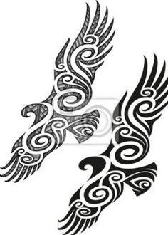 styled tattoo pattern in a shape of eagle., Maori styled tattoo pattern in a shape of eagle.,Maori styled tattoo pattern in a shape of eagle. Maori Tattoos, Tattoos Bein, Maori Tattoo Meanings, Ta Moko Tattoo, Maori Symbols, Hawaiianisches Tattoo, Herz Tattoo, Tattoo Style, Eagle Tattoos