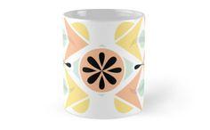 Geometric Pastel Mug by Elle Fennah | Redbubble