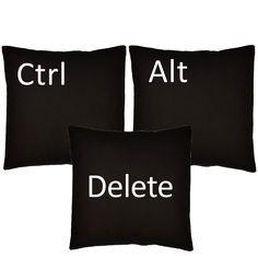 Task Master Ctrl Alt Delete Throw Pillows