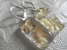 Falling Autumn Leaves-Miniature Soft Yellow by giftforallseasons