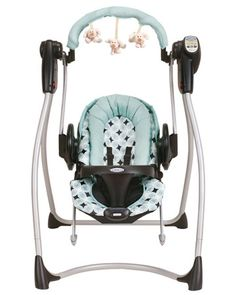Get both in one with the Graco Duo 2-in-1 Swing & Bouncer, $150. As a swing, the Duo has six speeds and plays classical songs and nature sounds. As a bouncer seat, you can choose between two vibration speeds, and get baby in and out easily.