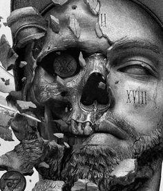 ZHARA – Album artwork Artwork is done for famous russian musician. Skull Tattoos, Body Art Tattoos, Sleeve Tattoos, Badass Drawings, Dark Art Drawings, Art Sculpture, Sculptures, Tattoo Studio, Statue Tattoo
