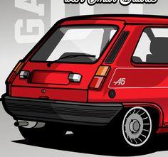 """The Drivers"" 3th Illustration Renault A5 by Alex Maldonado, via Behance"