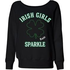 St Patricks Day sweatshirts! Customize some supper cute and unique St. Patrick's day designs with our St. Patricks rhinestone art. Add and personalize text too!