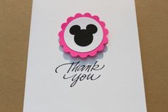 Minnie Mouse Thank You Cards by RoyalRegards on Etsy