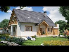 3 Two Story House Plans With Wooden Decoration - YouTube Two Story House Plans, Two Story Homes, Wooden Decor, Home Fashion, Exterior, Cabin, House Styles, Home Decor, Decoration
