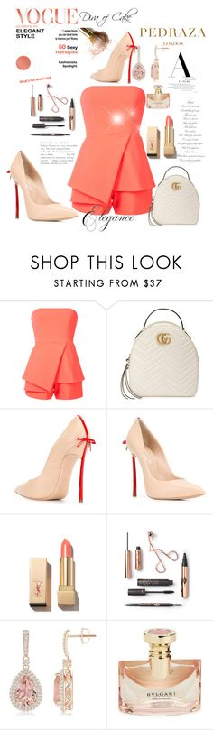 Orange fashion by Diva of Cake on Polyvore featuring Jay Godfrey, Casadei, Gucci, PUR and Bulgari