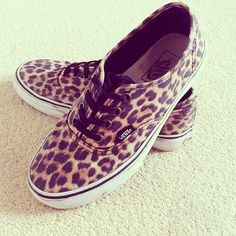 a little obsessed with cheetah vans at the moment