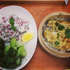 Steamed Seabass with Yogurt Salad #healthy https://www.youtube.com/channel/UCzVd4IHMnuE1n1DD3luJEXw