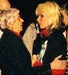 Debbie and her mom backstage in 1979