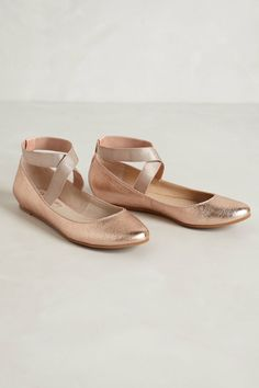 Partita Flats - http://Anthropologie.com -- SO similar to the Chloe Ballet Flats sold at Saks -- a little bit different toe box than the Chloe styles sold at Barneys (not as pointe shoe remniscent), but only $98 instead of $450...