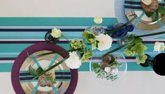 use large washi tape to decorate your dining table