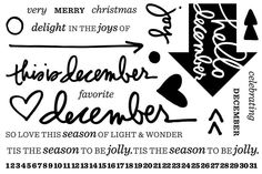 Exclusive December Daily stamp set from Technique Tuesday designed by Ali Edwards.