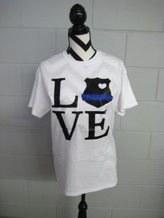 Police Badge Love Short Sleeve Shirt by ElleQDesigns on Etsy