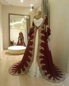 Wedding Hijab Styles, Hijab Wedding Dresses, Bridal Dresses, Bridal Hijab, Beautiful Gowns, Beautiful Outfits, Turkish Wedding Dress, Kaftan, Arab Fashion