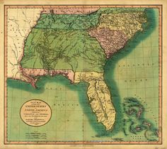Old Florida, 1806. American Map.