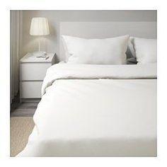 20€ IKEA - DVALA, Funda nórd y funda para almohada, 150x200/50x60 cm, , Los corchetes a presión ocultos mantienen el edredón en su sitio.