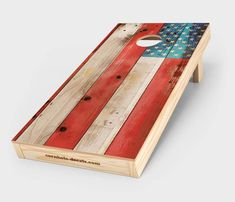Distressed American Flag Cornhole Decal