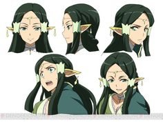 Character design by Shingo Adachi for the Fairy Dance Arc of the Sword Art Online anime Sakuya's Lost Song character model Más Character Design, Character Illustration, Online Art, Art, Online Anime, Fairies Dancing, Character Modeling, Anime Character Design, Sword Art