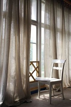 Top Useful Ideas: Ikea Curtains Pottery Barn curtains fabric cornice boards.Luxury Curtains Home Decor curtains fabric cornice boards. Ikea Curtains, Sheer Linen Curtains, Long Curtains, How To Make Curtains, Curtains Living, Rustic Curtains, White Curtains, Curtains With Blinds, Hanging Curtains