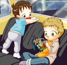 Baby Sam and Dean - this is cute, but I don't think Dean really got to play with toys